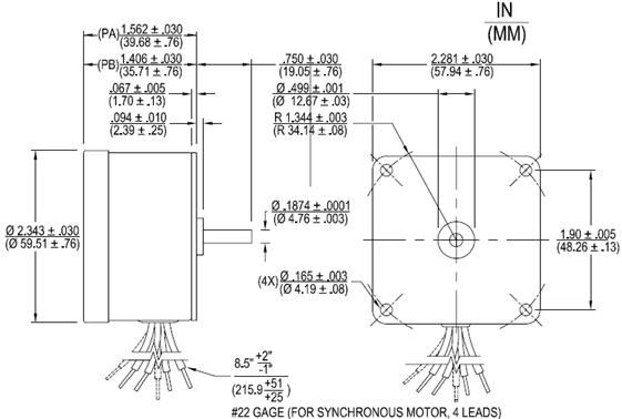 PA, PB Direct Drive Permanent Magnet AC Synchronous Motors Nidec Motor Wiring Diagram on